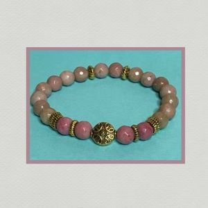 Jewelry - Pink Rose Rhodonite Gemstone Bracelet